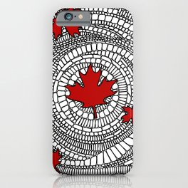 Canadian Maple Red iPhone Case