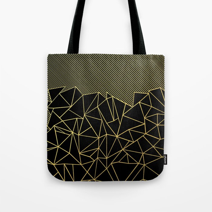 Ab Lines 45 Gold Tote Bag