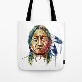 Sitting Bull watercolor painting Tote Bag
