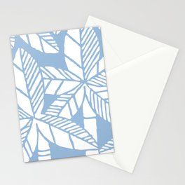 Tropical Palm Tree Composition Pale Blue Stationery Cards