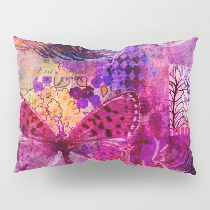 Butterflies Dream In Pink Pillow Sham