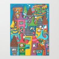 the neighbourhood Canvas Prints featuring Neighbourhood by Raquel Benmergui