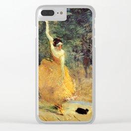 """Henri de Toulouse-Lautrec """"The Spanish Dancer"""" Clear iPhone Case"""