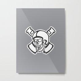 Misfit Psycles Beer Skull Metal Print