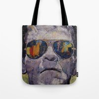 frankenstein Tote Bags featuring Frankenstein by Michael Creese