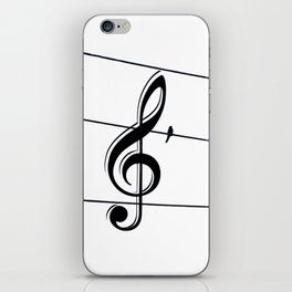 Natures Choir Birds on Wire Music Note A611W iPhone Skin