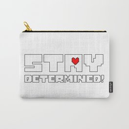 Stay Determined undertale Carry-All Pouch