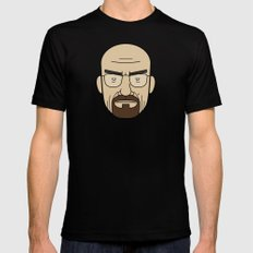 Faces of Breaking Bad: Walter White Black Mens Fitted Tee MEDIUM