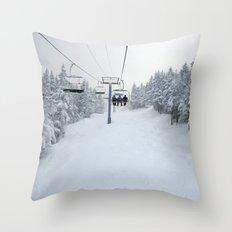 Skiing Vermont Throw Pillow