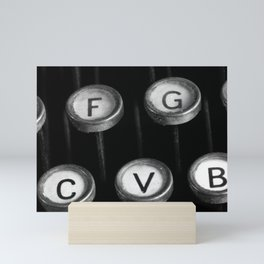 typewriter keys Mini Art Print