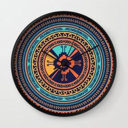 Colorful Hunab Ku Mayan symbol Wall Clock