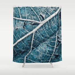 Frozen Winter Leaf Shower Curtain