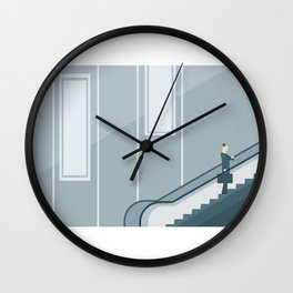 Running Late On A Meeting Wall Clock