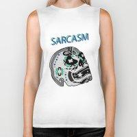 sarcasm Biker Tanks featuring Sarcasm by NENE W