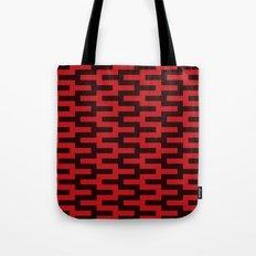 Black & Red Zigzag Tote Bag