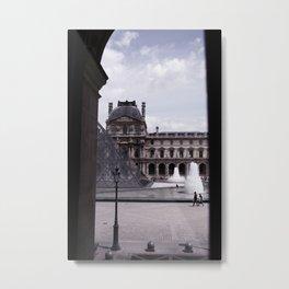 Peek Out the Louvre (Photo) Metal Print