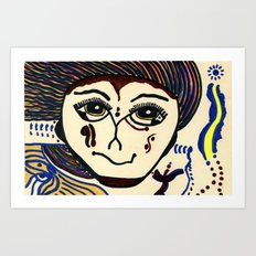 Anna - A Warrior Of The Cirubian Tribe Art Print