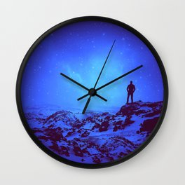 Lost the Moon While Counting Stars III Wall Clock