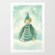 Goblins Drool, Fairies Rule! - Snowflake Shelly Art Print