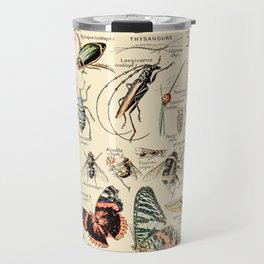 Vintage Insect Identification Chart // Arthropodes by Adolphe Millot XL 19th Century Science Artwork Travel Mug
