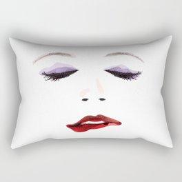 Sexy Woman's Face Rectangular Pillow