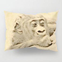Vintage Animals - Gorilla Baby Pillow Sham