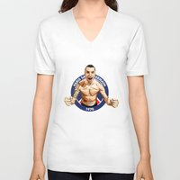 zlatan V-neck T-shirts featuring Zlatan Ibrahimovic by Just Agung