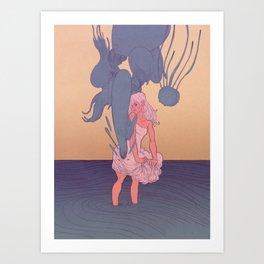 Liquid Creatures Art Print