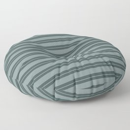 Scarborough Green PPG1145-5 Horizontal Stripes Pattern 1 on Night Watch PPG1145-7 Floor Pillow