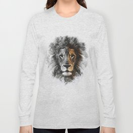 Lion Face Painting Long Sleeve T-shirt