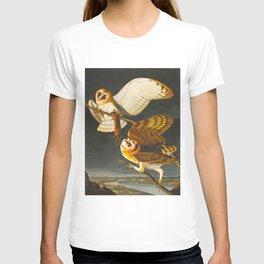 Barn Owl Hand Drawn Illustrations Vintage Scientific Art John James Audubon Birds T-shirt