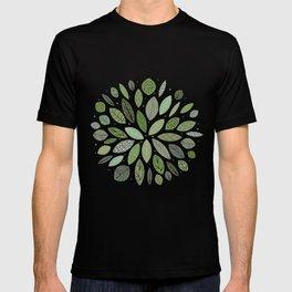 Mid-Century Green Leaves T-shirt