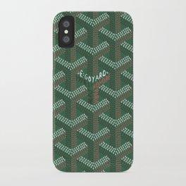 Green Goyard Original iPhone Case