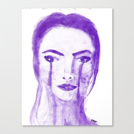 Violet Silence Canvas Print