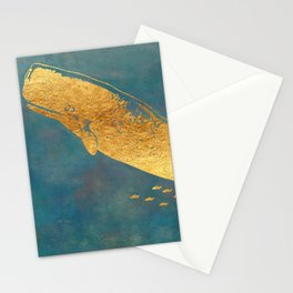 Deep Sea Life Whale Stationery Cards