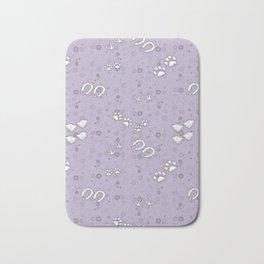 Lavender Purple Baby Animal Tracks Pattern Bath Mat