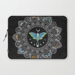 Lunar Moth Mandala with Background Laptop Sleeve