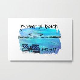 Graphic Art Summer & Beach Metal Print