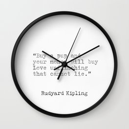 Rudyard Kipling quotes Wall Clock
