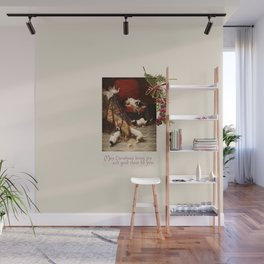 Pet Lover Christmas Greeteengs Wall Mural