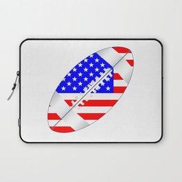 American Football Ball Flag Laptop Sleeve