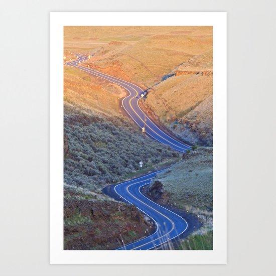 Long and Winding Art Print
