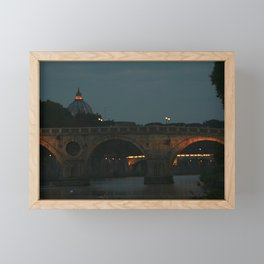 Bridges of Rome in the Evening Framed Mini Art Print