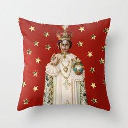 Glitter Infant of Prague Throw Pillow