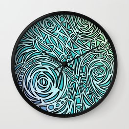 How The River Flows - Faded Wall Clock