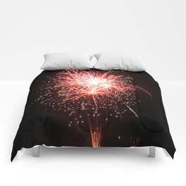 Red White and Blue Sparks Comforters