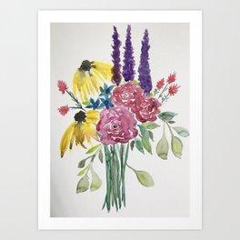 Springtime Bouquet Art Print