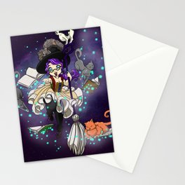 Library Witch Stationery Cards