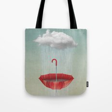 Embracing the Rain Tote Bag