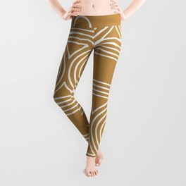 70s 80s Retro Cassette Line Art Leggings